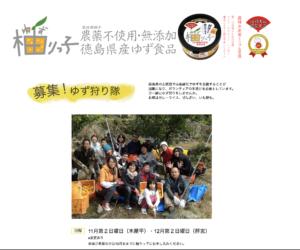 柚りっ子(徳島県)Webサイト 愛知県豊根村[とみやま村]ゆず収穫隊 とみやまの柚子収穫