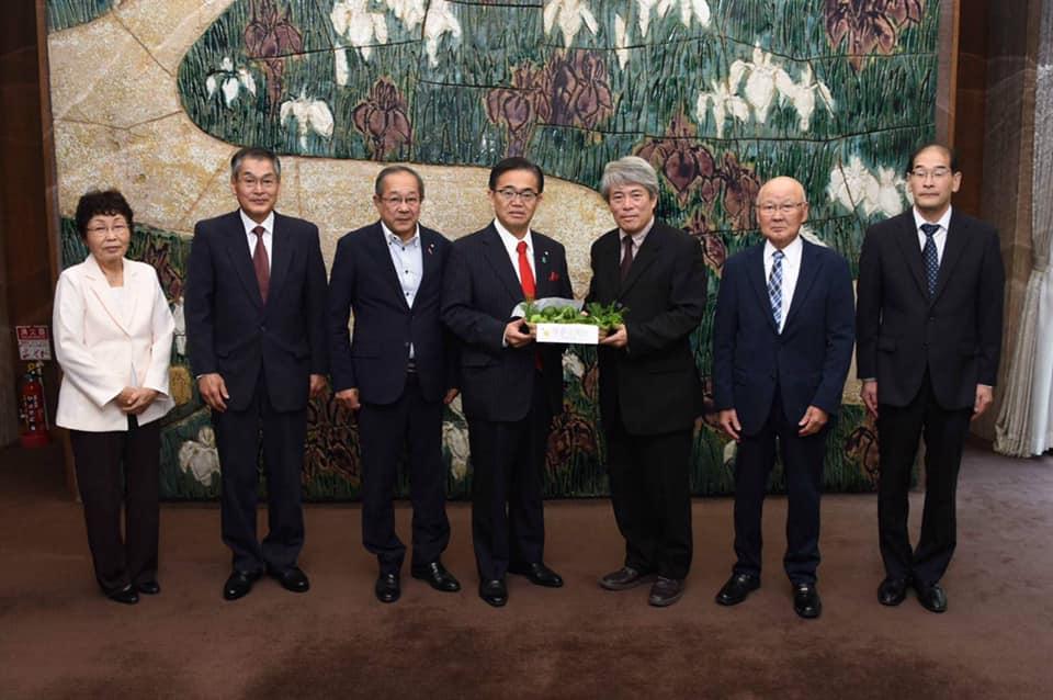 愛知県知事への活動報告|愛知県豊根村[とみやま村]ゆず収穫隊|とみやまの柚子収穫