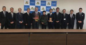 新城市役所を表敬訪問しました|愛知県豊根村[とみやま村]ゆず収穫隊|とみやまの柚子収穫